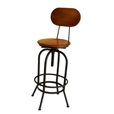 Doss Adjustable Height Swivel Bar Stool
