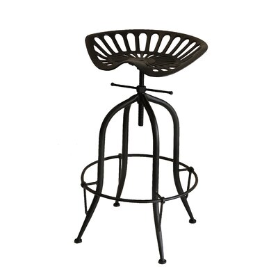 Sula Adjustable Height Swivel Bar Stool Color: Black