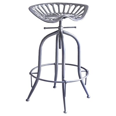 Sula Adjustable Height Swivel Bar Stool Color: Gun Metal