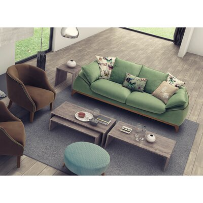 Bugatti Air Triple Sofa Upholstery: Green