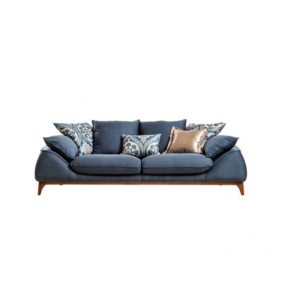Bugatti Air Triple Sofa Upholstery: Navy Blue
