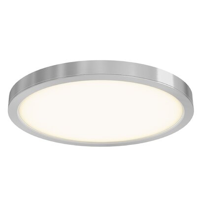 Jaclynn Ceiling 1-Light LED Flush Mount Finish: Satin Nickel