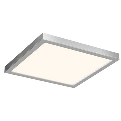Michel Ceiling 1-Light LED Flush Mount Finish: Satin Nickel