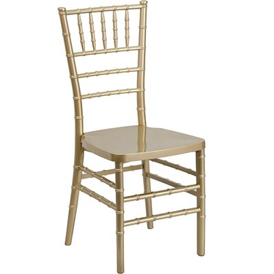 Chiavari Resin Side Chair (Set of 5) Color: Gold