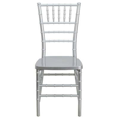 Chiavari Resin Side Chair (Set of 5) Color: Silver
