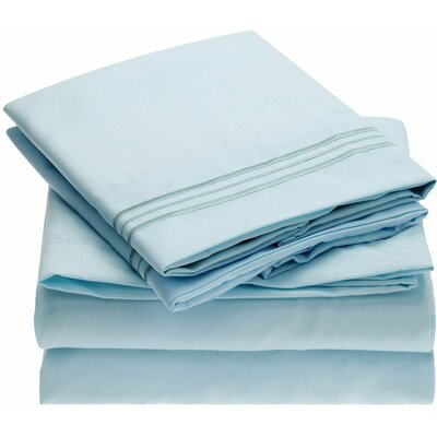 Fine Linens 1800 Thread Count 100% Brushed Microfiber Sheet Set