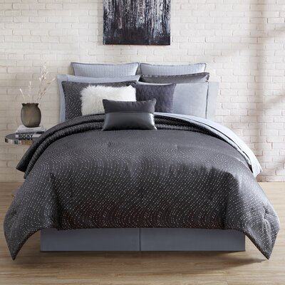 Alyn 4 Piece Comforter Set Size: King