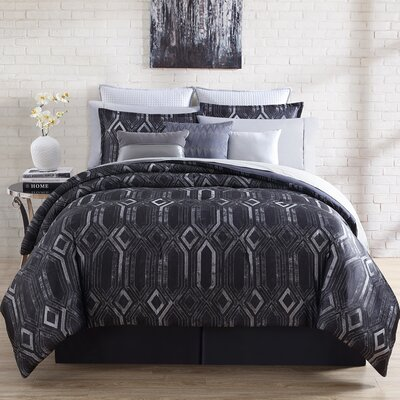 Midnight 4 Piece Comforter Set Size: Queen
