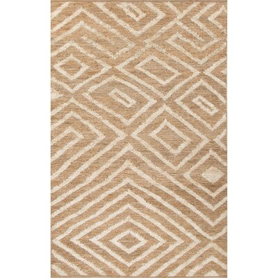 Luxor Hand-Woven Natural/Ivory Area Rug Rug Size: Rectangle 9 x 12