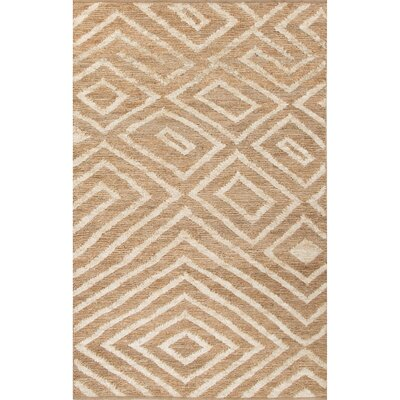 Luxor Natural/Ivory Area Rug Rug Size: 5 x 8