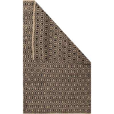 Subra Black/Natural Area Rug Rug Size: Rectangle 5 x 8