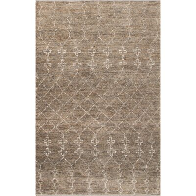Luxor Natural/Gray Area Rug Rug Size: 5 x 8