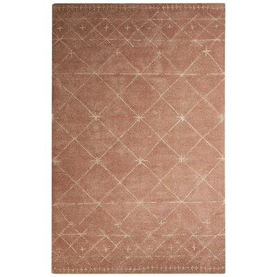 Etho Hand-Tufted Pink/Ivory Area Rug Rug Size: Rectangle 8 x 10