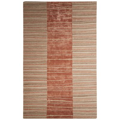 Etho Hand-Tufted Taupe/Brown Area Rug Rug Size: 5 x 8