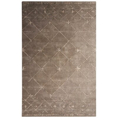 Etho Hand-Tufted Brown/Taupe Area Rug Rug Size: 2 x 3