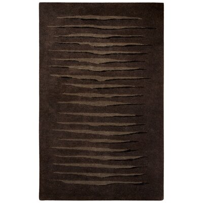 Etho Hand-Tufted Brown/Black Area Rug Rug Size: 9 x 12