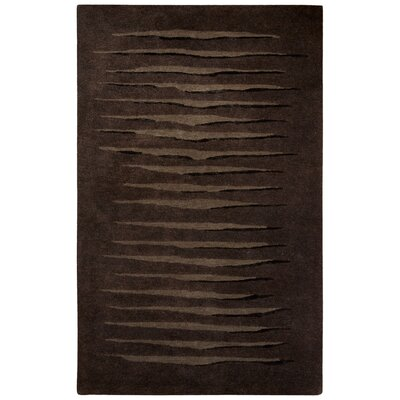 Etho Hand-Tufted Brown/Black Area Rug Rug Size: 8 x 10