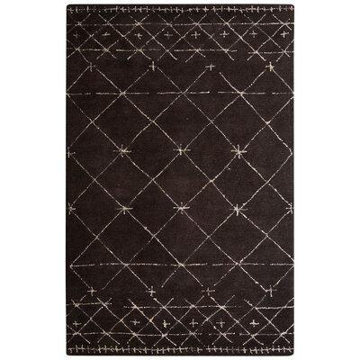 Etho Hand-Tufted Brown/Ivory Area Rug Rug Size: 2 x 3