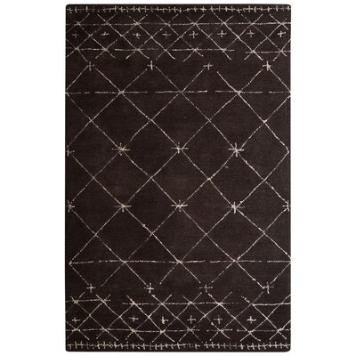 Etho Hand-Tufted Brown/Ivory Area Rug Rug Size: 5 x 8
