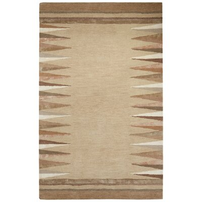Etho Hand-Tufted Taupe/Ivory Area Rug Rug Size: 9 x 12
