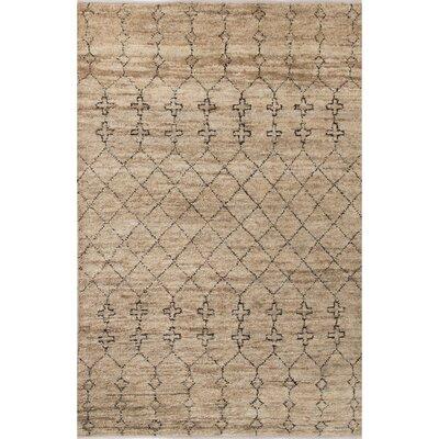 Luxor Natural/Black Area Rug Rug Size: 5 x 8