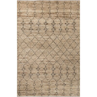 Luxor Natural/Black Area Rug Rug Size: 9 x 12