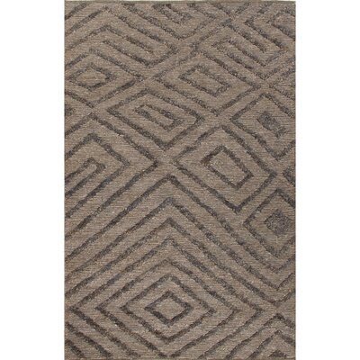 Luxor Gray/Black Area Rug Rug Size: 5 x 8