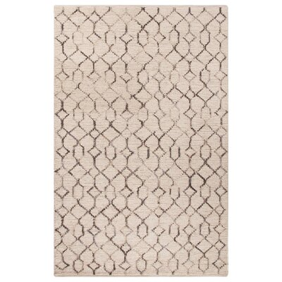 Luxor Ivory/Gray Area Rug Rug Size: Rectangle 5 x 8