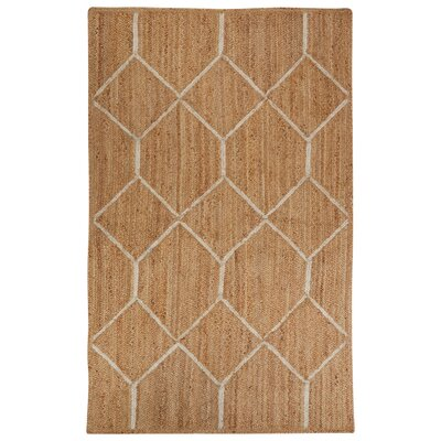 Subra Natural/Ivory Area Rug Rug Size: 5 x 8