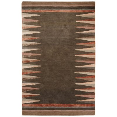 Etho Hand-Tufted Gray/Brown Area Rug Rug Size: Rectangle 8' x 10'