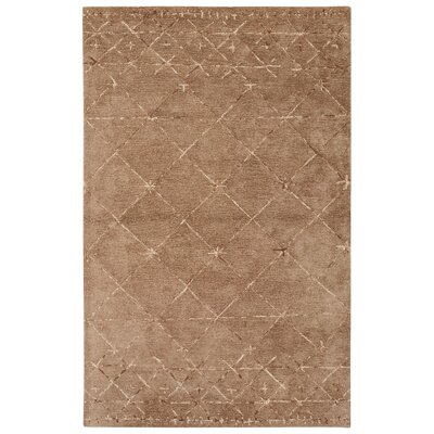 Etho Hand-Tufted Taupe/Ivory Area Rug Rug Size: 5 x 8