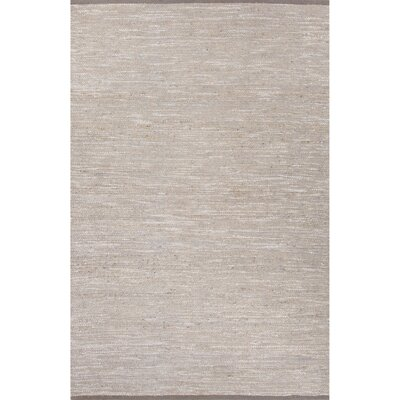 Subra Hand-Woven Gray Area Rug Rug Size: 5 x 8