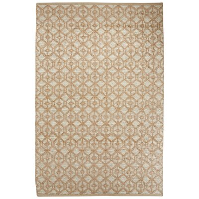 Subra Hand-Woven Ivory/White Area Rug Rug Size: Rectangle 5 x 8