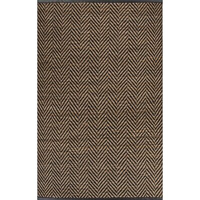 Subra Black/Natural Area Rug Rug Size: 5 x 8