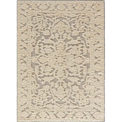 Shakur Hand-Woven Cloud Cream/Neutral Gray Area Rug Rug Size: 5 x 8