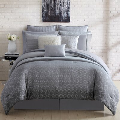 Lyon 4 Piece Comforter Set Size: King