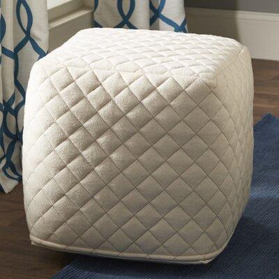 Ultra By Nikki Chu Pouf Ottoman Upholstery: Ivory / White