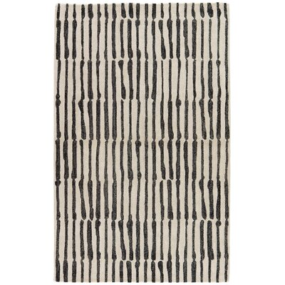 Saville Geometric Handmade White Area Rug Rug Size: Rectangle 5' x 8'