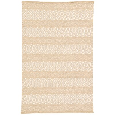 Dimarmi Geometric Handmade Ivory Area Rug Rug Size: Rectangle 9 x 12