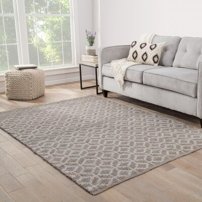Caprice Geometric Handmade Brown Area Rug Rug Size: Rectangle 2 x 3