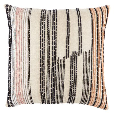 Jaipur Living Daintree Striped Throw Pillow Color: Pink/Black/Orange, Fill Material: Polyester/Polyfill