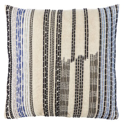 Jaipur Living Daintree Striped Throw Pillow Color: Blue/Black, Fill Material: Down/Feather