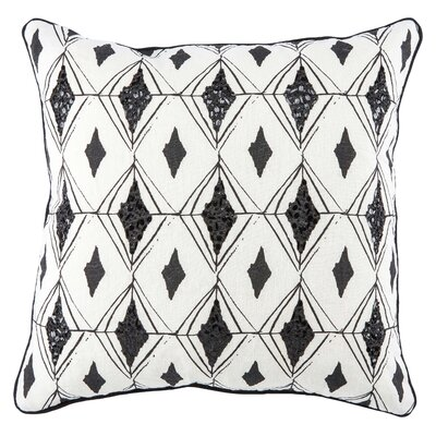 Jaipur Living Syrin Linen Throw Pillow Fill Material: Down/Feather