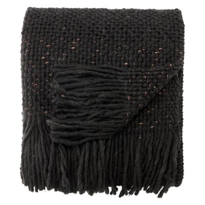 Jaipur Living Prado Chunky Knit Throw Color: Black