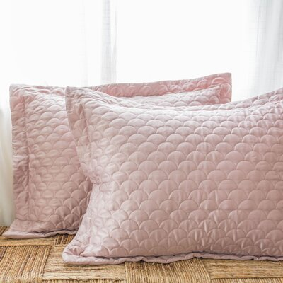Nikki Chu Quilted Sham Size: King, Color: Pink