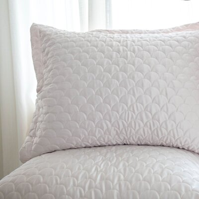 Nikki Chu Quilted Sham Size: King, Color: Silver