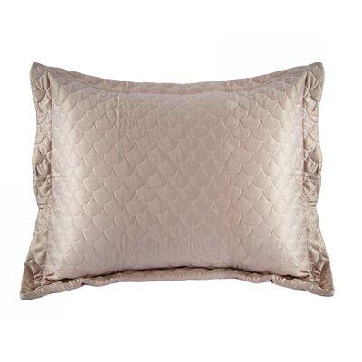 Nikki Chu Quilted Sham Size: King, Color: Gray