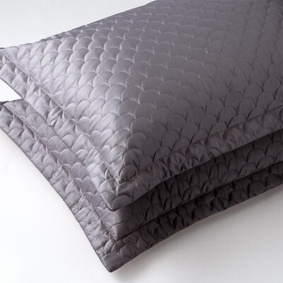 Nikki Chu Quilted Sham Size: Queen, Color: Charcoal