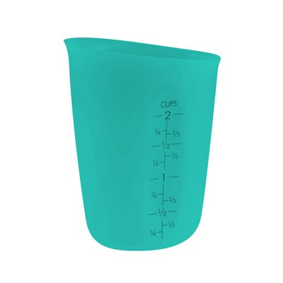 2 Cup Silicone Flexible Liquid Measuring Cup Color: Teal TG2571-T