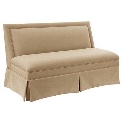 Harper Skirted Settee Upholstery: Sand